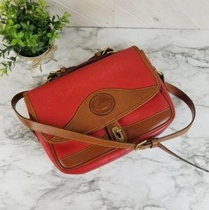 Dooney & Bourke | Red Leather Carrier Shoulder Bag